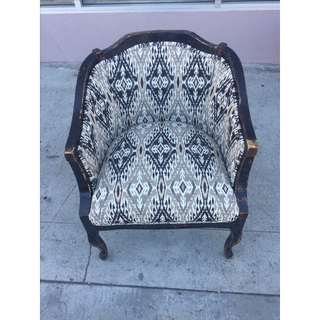 Distressed Wood Side Chair For Sale - Image 4 of 5
