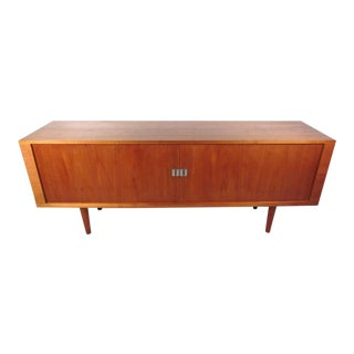 """Mid-Century """"President"""" Tambour Credenza by Hans Wegner For Sale"""