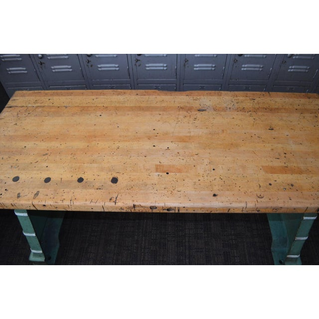 Industrial Maple Top Work Table - Image 3 of 10