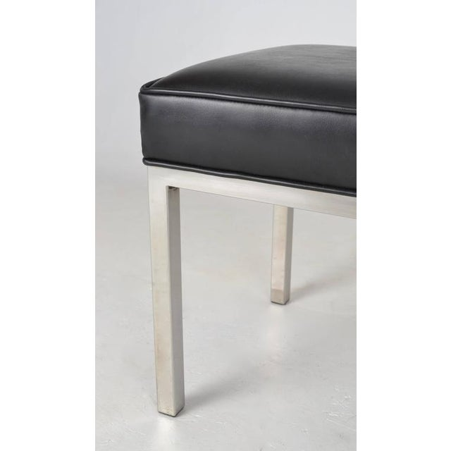 Modern Chrome Bench For Sale - Image 4 of 5