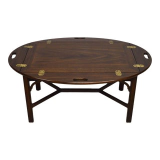 Henkel Harris Solid Mahogany Chippendale Style Butler's Coffee Table