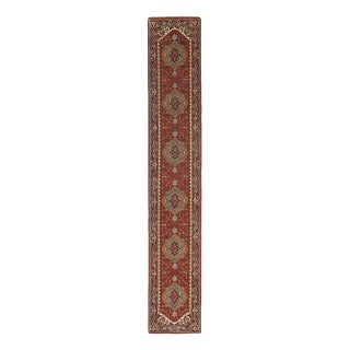 Pasargad Indo Hand-Knotted Serapi Runner Rug - 2′6″ × 16′ For Sale