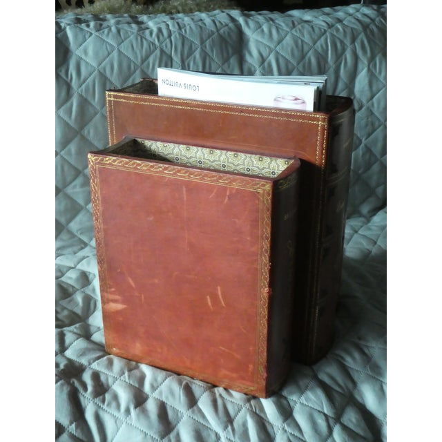 Late 20th Century Vintage Italian Book Shaped Magazine Rack For Sale - Image 4 of 7