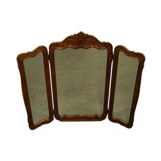 Bernhardt Furniture Louis XVI French Provincial Tri Fold Dresser Mirror For Sale