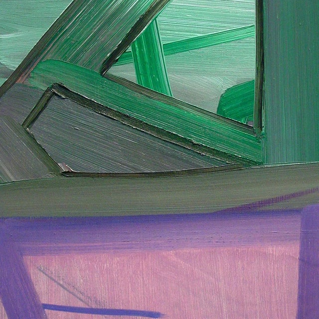Oil on panel Edition: Unique, Unframed. Ashlynn Browningsrecurring use of grids, networks may recall architectural...