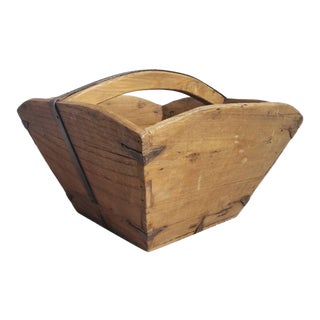 19th Century Chinese Provincial Wooden Harvest Bowl / Rice Box For Sale