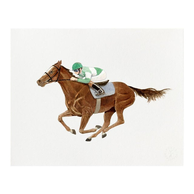 "2020s ""Saratoga Eleven"" Giclée Art Print by Felix Doolittle - 8x10 - Race Horse For Sale - Image 5 of 5"