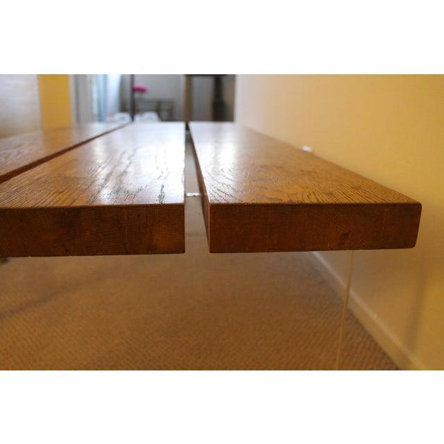 Acrylic Mid-Century Wood & Acrylic Coffee Table For Sale - Image 7 of 10