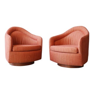 Milo Baughman Highback Swivel Chairs For Sale