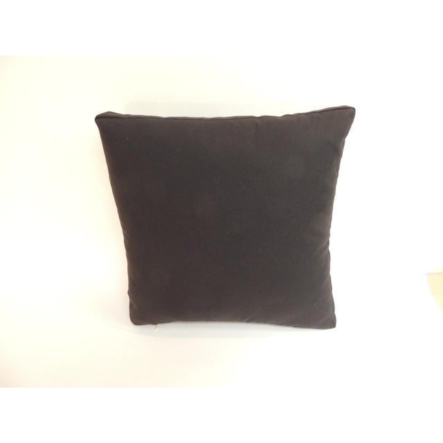 Vintage Graphic African Artisanal Textile Mud Cloth Decorative Pillow For Sale - Image 4 of 5