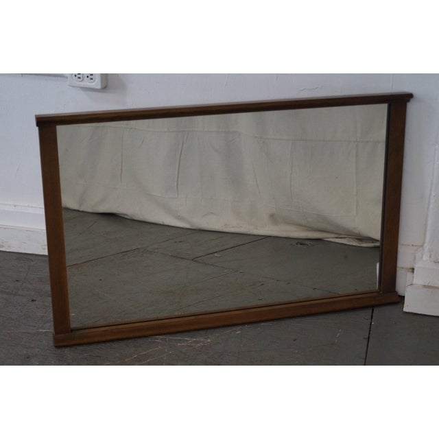 Mid-Century Modern Walnut Rectangular Wall Mirror - Image 2 of 10