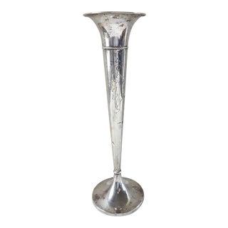 Sterling Silver Trumpet Vase by Webster For Sale