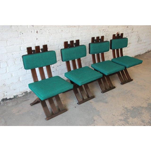 Harvey Probber Harvey Probber Mid-Century Modern X-Base Dining Chairs - Set of 4 For Sale - Image 4 of 11
