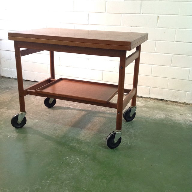 Rosewood Serving Cart by Jason Mobler, Denmark For Sale In Dallas - Image 6 of 11