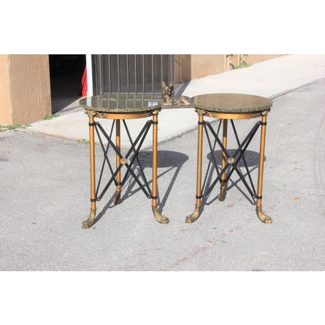 1920s French Neoclassical Bronze Side Tables - a Pair For Sale - Image 10 of 13