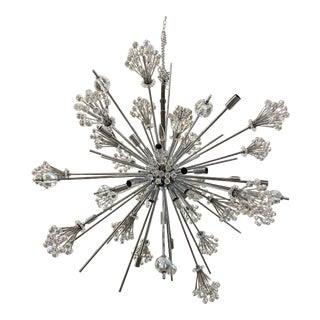 Mid-Century Style Sputnik Starburst Crystal Chandelier For Sale