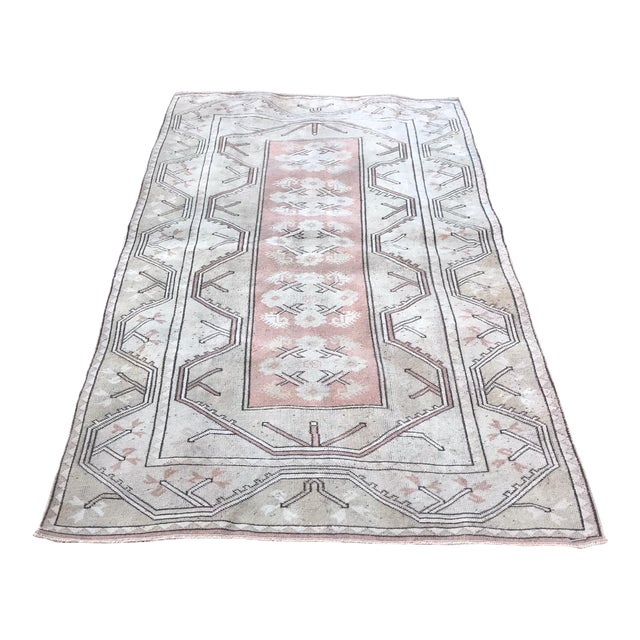 Turkish Hand Knotted Milas Area Rug For Sale