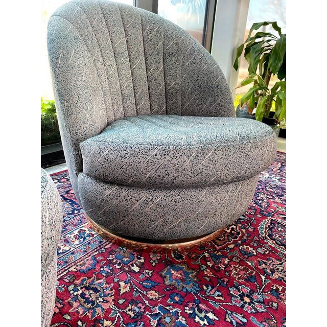 Metal Swivel Club Chairs by Milo Baughman for Thayer Coggin - a Pair For Sale - Image 7 of 13