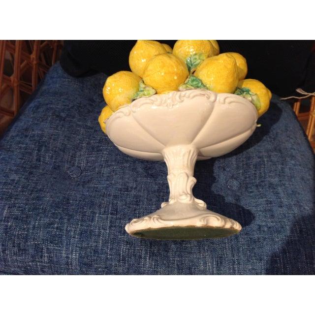 1950s Italian Yellow Faience Lemons Centerpiece - Image 2 of 5
