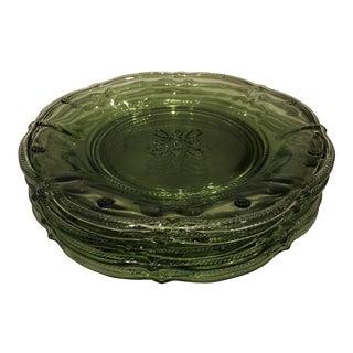 Colette Green Glassware Salad/Dessert Plates - Set of 5