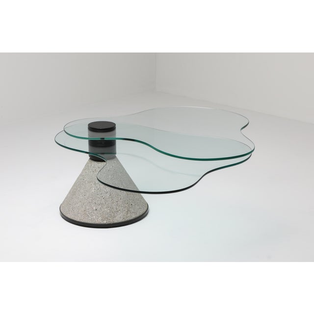 Postmodern Coffee Table in the Manner of Saporiti - 1980s For Sale - Image 4 of 10