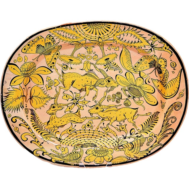 Fantasia Platter, C Early 20th C. For Sale
