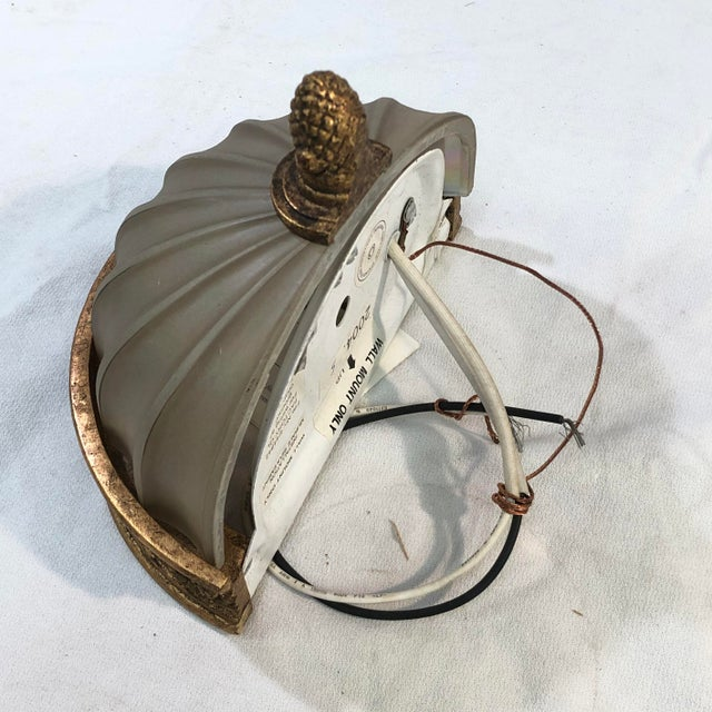 Murray Feiss Baroque Brulee Gold Wall Sconce For Sale - Image 4 of 12
