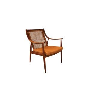 Danish Mid Century Peter Hvidt and Orla Mølgaard Nielsen for France & Daverkosen Danish Teak Cane Chair For Sale