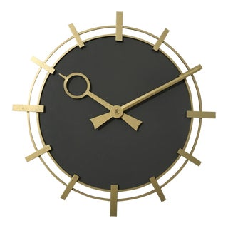 Industrial Factory Workshop Wall Clock from Siemens, 1970s For Sale