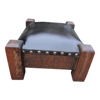 Antique Arts & Crafts Small Footstool For Sale