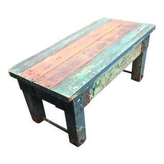 Rustic Country Painted Coffee Table