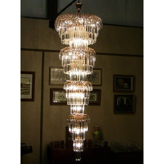 Art Deco Style Multi Layered Swarofski Crystal Chandelier Extra Large – Stunning Preview