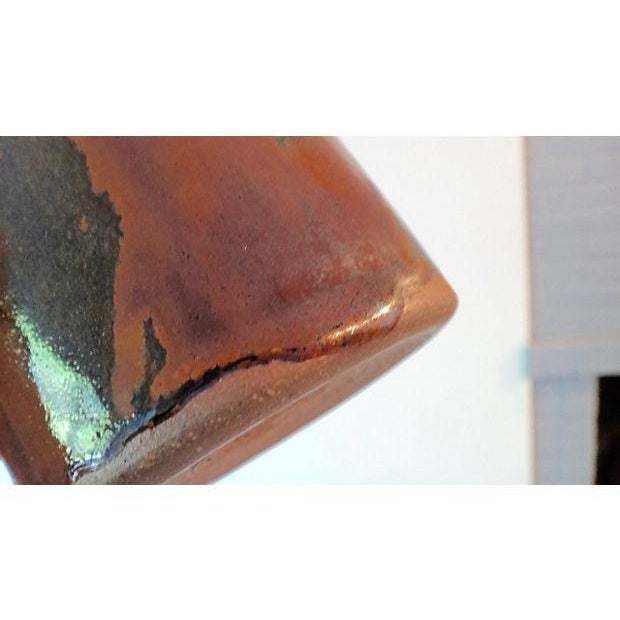 Brown Modernist Abstract Studio Pottery Vase For Sale - Image 8 of 11
