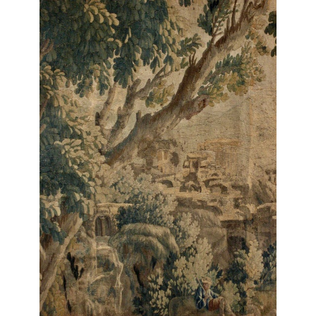 French 1700s French Aubusson Verdure Tapestry Wall Hanging For Sale - Image 3 of 11