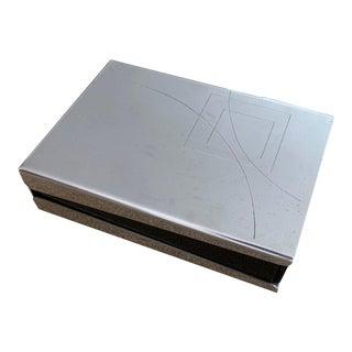 Italian Designed Silver-Plated Box for Cleto Munari by Mattia Pastorino For Sale