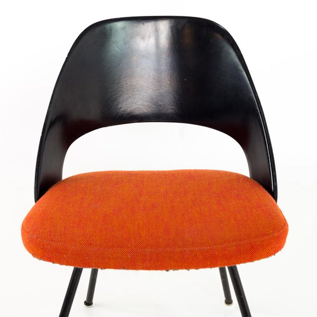 Plastic Vintage Early Saarinen for Knoll Plastic Back Armless Executive Side Desk Chair For Sale - Image 7 of 8