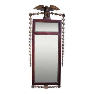 Late 19th Century Federal Style Carved Giltwood Pier Mirror For Sale