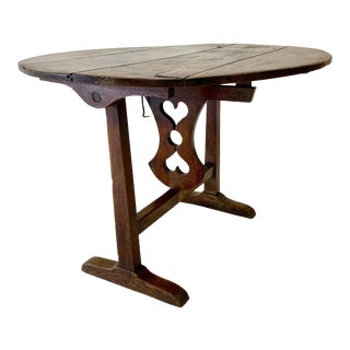 18th C. French Vendage Table For Sale