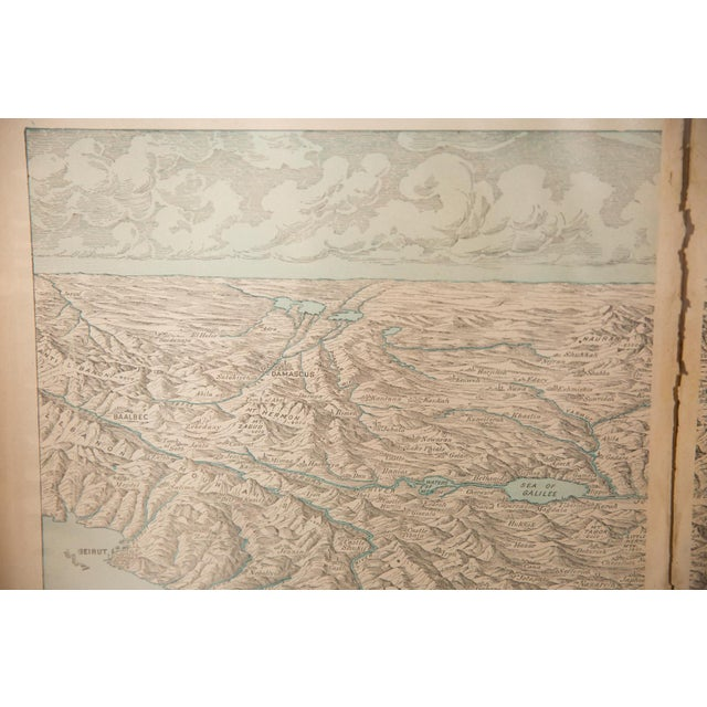 Old New House Cram's 1907 Map of Holy Land For Sale - Image 4 of 9
