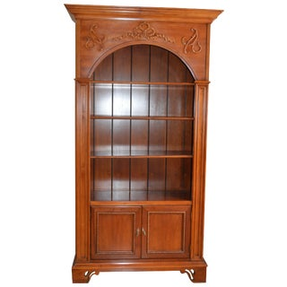 French Country Cherry Wood Bookcase For Sale