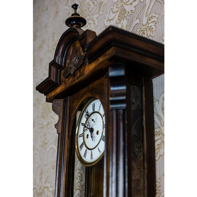 Wood 19th-Century Wall Clock For Sale - Image 7 of 13