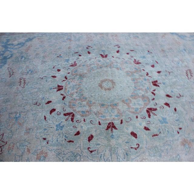 Textile Vintage Tabriz Wool Rug - 10′ × 14′1″ For Sale - Image 7 of 10
