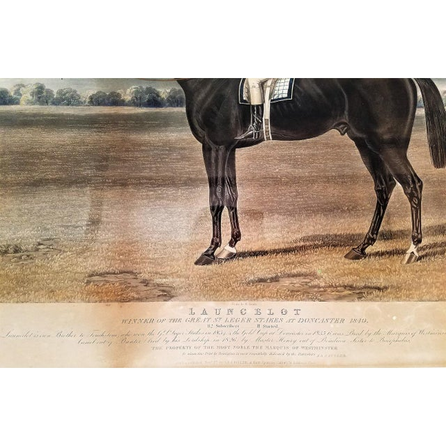 Early 19c Aquatint Engraving of Launcelot by John Frederick Herring Snr For Sale In Dallas - Image 6 of 8