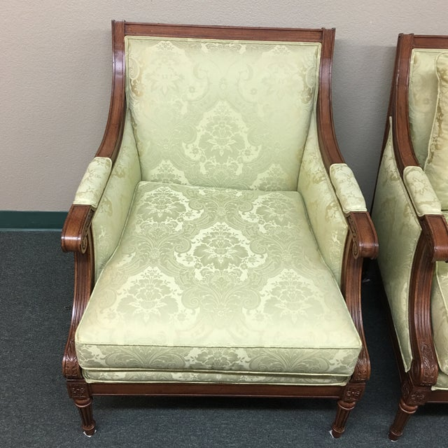 Ethan Allen Fairfax Arm Chairs - A Pair - Image 5 of 11
