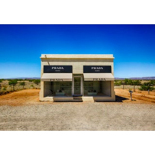 """Prada Marfa"" Print by M. Haupt Framed in White For Sale"