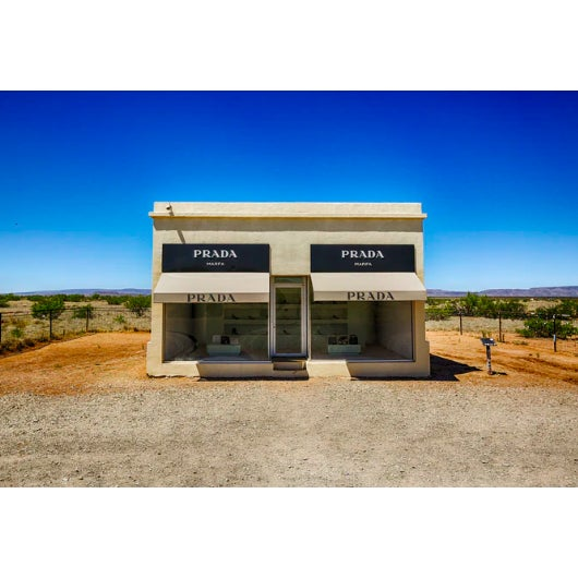"""""""Prada Marfa"""" Print by M. Haupt Framed in White For Sale"""
