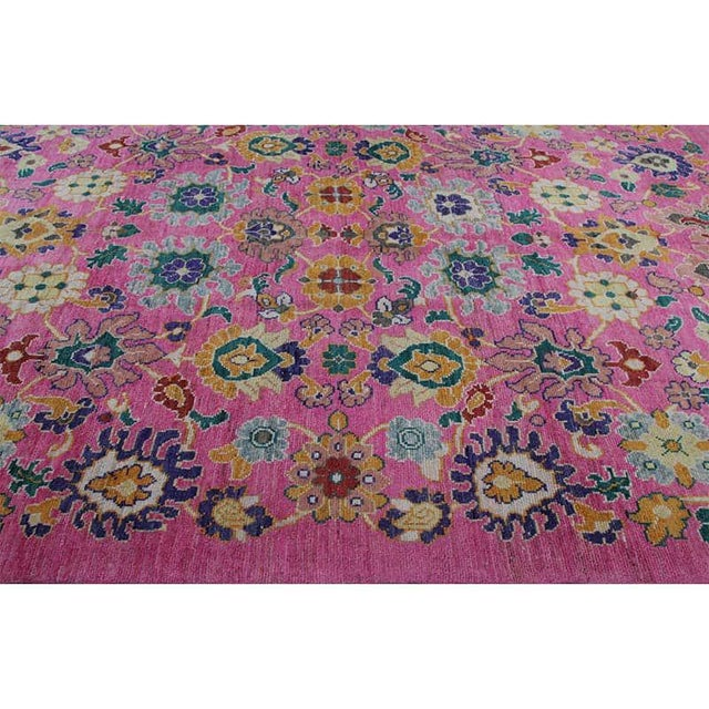 """Traditional Handwoven Turkish Oushak Rug - 8'2""""x10'7"""" For Sale - Image 11 of 12"""