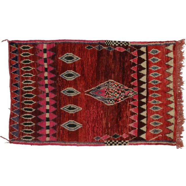 Berber Tribes of Morocco 20th Century Moroccan Berber Rug - 5'3 X 7'8 For Sale - Image 4 of 5
