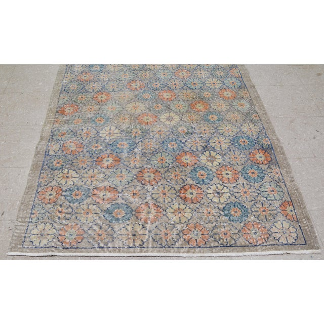 "1950s Vintage Turkish Art Deco Rug,4'2""x6'10"" For Sale - Image 5 of 7"