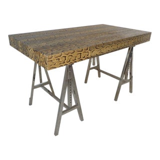Modern Snake Skin Writing Desk For Sale